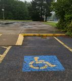 Handicap Parking Space With Ramp stock photo