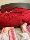 sypialna kobieta Zdjęcia Royalty Free