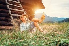 Sypialna kraj chłopiec zdjęcie royalty free