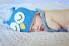 Sypialna nowonarodzona chłopiec Zdjęcia Royalty Free