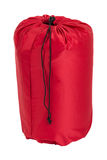 Sypialna torba odizolowywająca na białym tle Zdjęcie Royalty Free