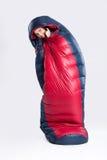 sypialna torby kobieta Zdjęcia Stock