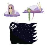 Sypialne dziewczyny ustawiać ilustracji