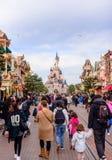 Sypialnego piękna kasztel symbol Disneyland Paryż Obraz Royalty Free