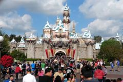 Sypialnego piękna kasztel przy Disneyland, Kalifornia Zdjęcia Royalty Free
