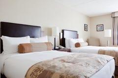 sypialni łóżek kopia dwa zdjęcia royalty free