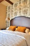 sypialni dekoraci opisywany wnętrze Obraz Royalty Free