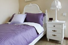 sypialni eleganci wnętrze Zdjęcia Royalty Free