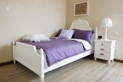 sypialni eleganci wnętrze Obrazy Royalty Free