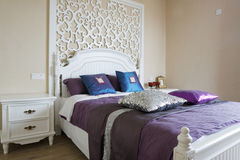sypialni eleganci wnętrze Fotografia Royalty Free