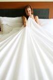 sypialni kobieta Zdjęcie Royalty Free