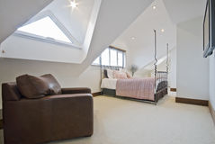 sypialni loft Zdjęcie Royalty Free