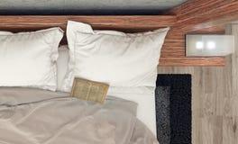 sypialni projekta wnętrze nowożytny Fotografia Royalty Free