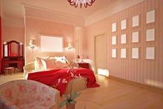 sypialni projekta wnętrza menchie Royalty Ilustracja