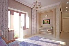 sypialni projekta wnętrze Ilustracji