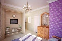 sypialni projekta wnętrze Ilustracja Wektor