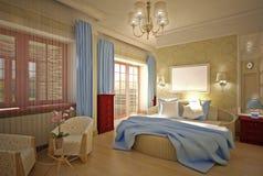 sypialni projekta wnętrze Royalty Ilustracja