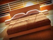 sypialni wnętrza zmierzch ilustracji