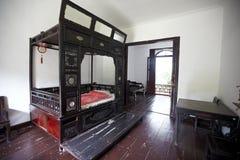 Sypialni wnętrze Obrazy Royalty Free
