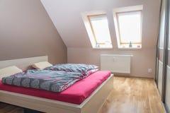 Sypialni wnętrza loft Obraz Royalty Free