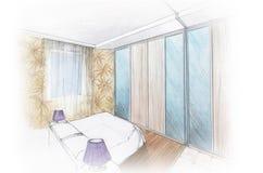 sypialni wnętrza mistrz royalty ilustracja