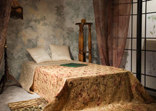 sypialni wnętrza stylu rocznik Obrazy Royalty Free