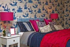 Sypialni wnętrze zdjęcia stock