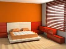 sypialni wnętrze Zdjęcia Royalty Free