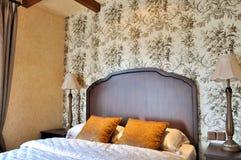 sypialni wnętrze wygodny skomplikowany Fotografia Stock