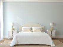 Sypialni wnętrze. Zdjęcie Stock