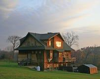 sypialni wschód słońca okno zima Zdjęcie Stock