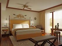 sypialnia afrykański styl Zdjęcia Stock