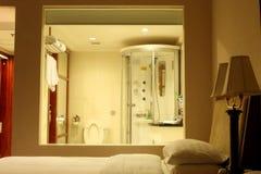 sypialnia łazienki Fotografia Royalty Free