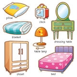 Sypialnia element ilustracji