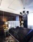 Sypialnia luksusu wnętrze Obraz Stock