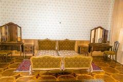 Sypialnia na poprzednim kraju Radzieccy lidery (Stalin, Kh Zdjęcia Royalty Free