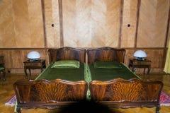 Sypialnia na poprzednim kraju Radzieccy lidery (Stalin, Kh Obraz Stock