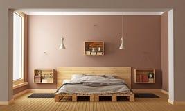 sypialnia nowoczesnej Zdjęcie Stock