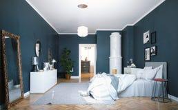 sypialnia nowoczesnej 3 d Zdjęcia Stock