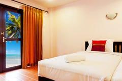 Sypialnia przy plażą Zdjęcie Royalty Free