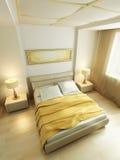 sypialnia styl wewnętrzny nowożytny Zdjęcia Royalty Free