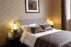 Sypialnia w domu w mieszkaniu Zdjęcie Stock