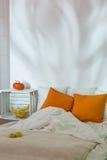 Sypialnia w nowożytnym eco stylu Fotografia Stock