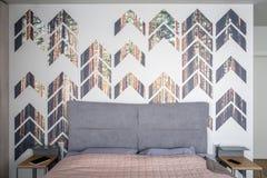 Sypialnia w nowożytnym stylu Zdjęcie Stock
