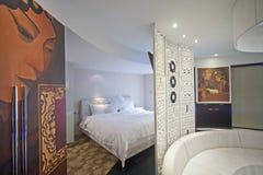 Sypialnia wewnętrzny projekt, Chlebowy robić Obraz Royalty Free