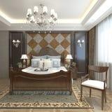 Sypialnia Wewnętrzny 3D rendering Zdjęcia Royalty Free