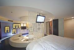 Sypialnia wewnętrzny projekt, Rodzinny sypialnia projekt Obrazy Stock