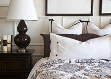 sypialnia wnętrza projektu eleganckie Obrazy Royalty Free