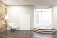 Sypialnia z round łóżkiem Obraz Royalty Free