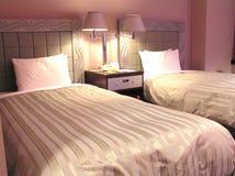 sypialnia zsynchronizowane hotel Fotografia Stock